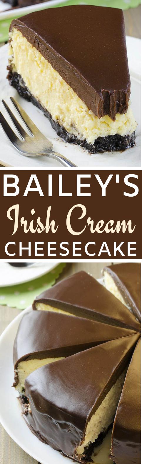 Bailey's Irish Cream Cheesecake #desserts #cheesecake #cake #baking #baileys