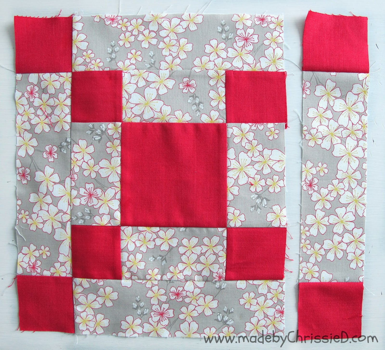 Single Irish Chain Block Tute by www.madebyChrissieD.com