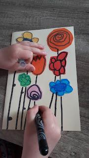 tutoriel facile récupération maternelle enfant carte fete anniversaire pere mere fleurs