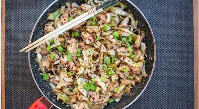 Brisk Chicken Cabbage Stir Fry Recipe #chicken