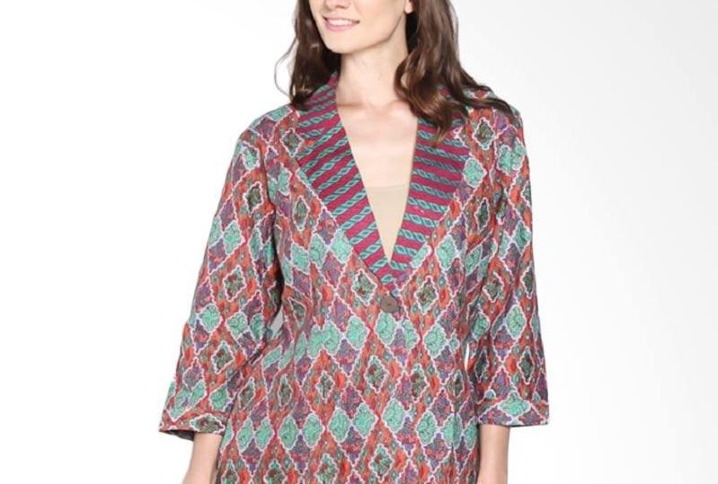 Model Baju Batik Kantor Untuk Wanita Gemuk Agar Terlihat Kurus