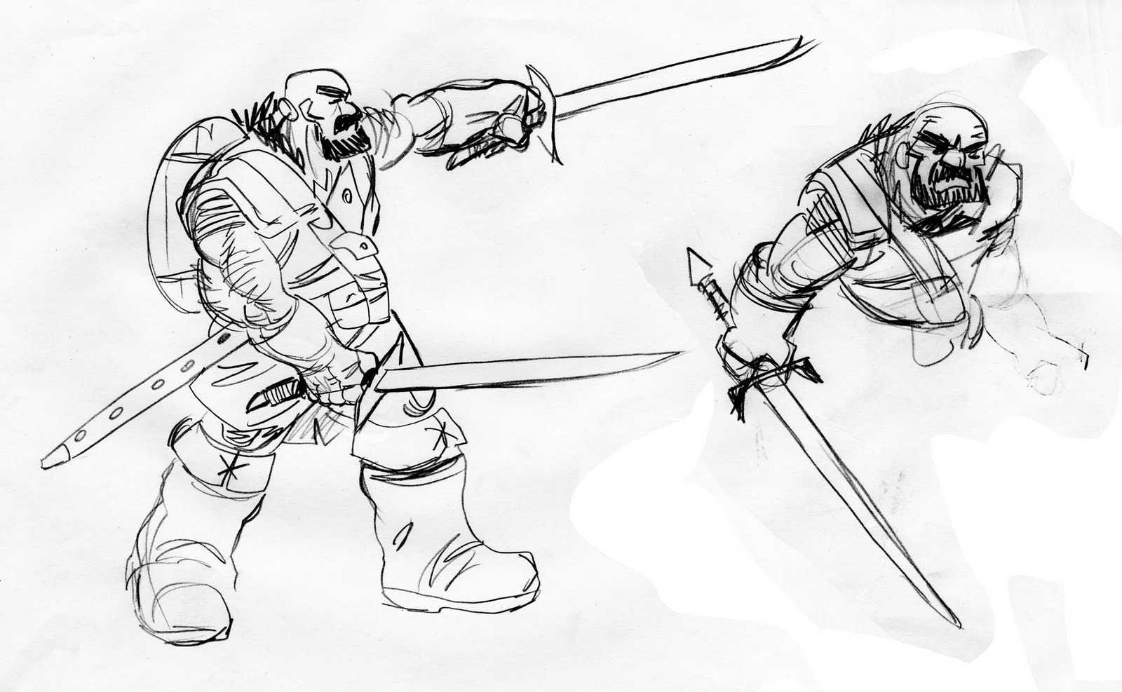 Orcs Sketchbook Samurai Awry