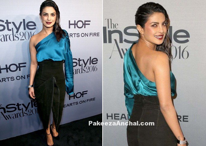 Priyanka Chopra One Shoulder Skirt & Zipper Skirt
