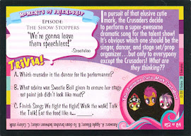 My Little Pony Best... Comedy Act? Series 1 Trading Card