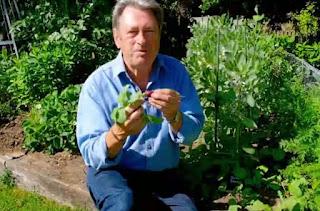 Alan Titchmarsh eating radishes