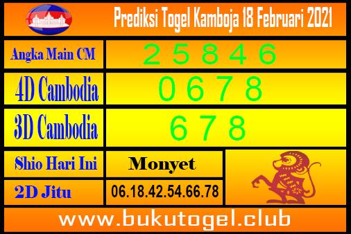 Prakiraan Kamboja 18 Februari 201