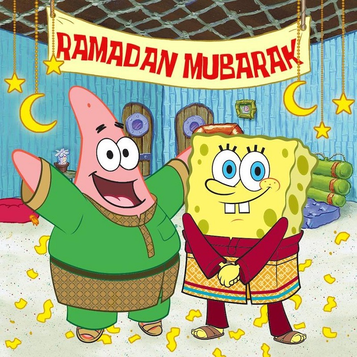 SpongeBob & Patrick In Baju Melayu Outfits To Celebrate Ramadan