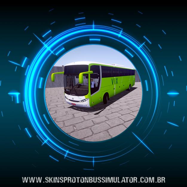Skin Proton Bus Simulator - Comil Campione 3.65 VW 18.330 Euro V VIX Log