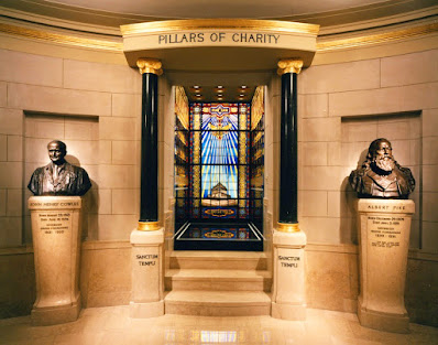Tomb of John Henry Cowles. House of the Temple. Washington, DC. Pillars of Charity
