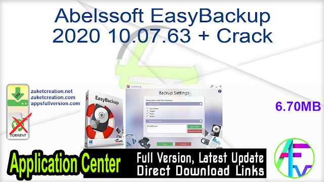 Abelssoft EasyBackup 2020 10.07.63 + Crack