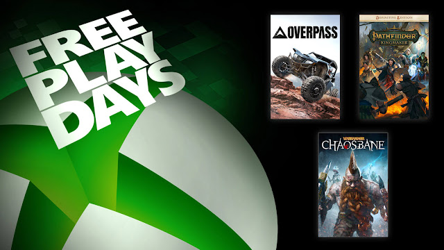 overpass pathfinder kingmaker warhammer chaosbane definitive edition xbox live gold free play days event