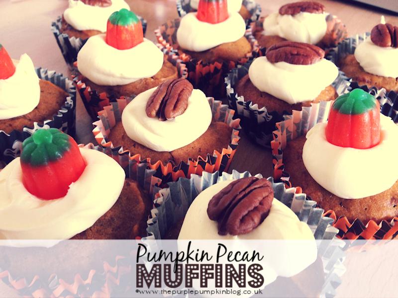 #Pumpkin Pecan #Muffins at The Purple Pumpkin Blog