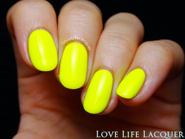 Sophin 231 neon yellow nail polish swatch