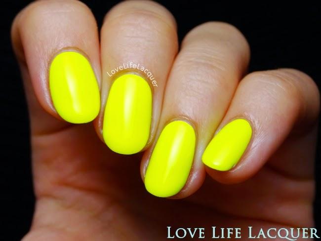 Sophin 231 neon yellow nail polish swatch
