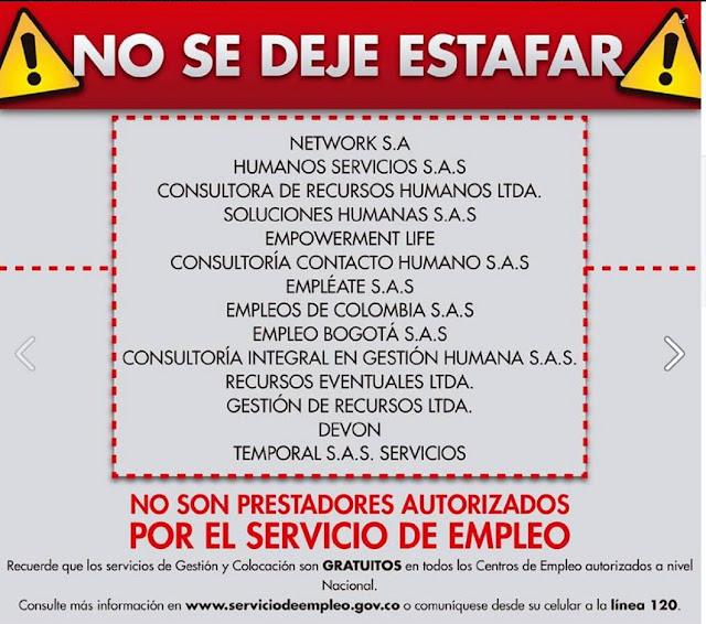 empresas falsas que prometen empleo en colombia son estafas