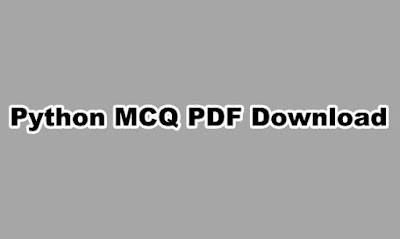 Python MCQ PDF Download
