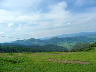 Вид с горы Высокий Верх. Львовская область