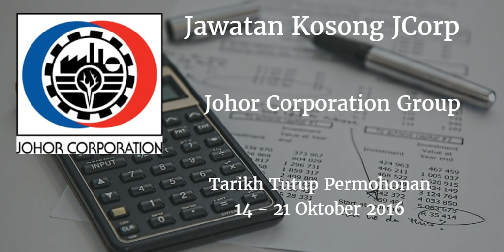 Jawatan Kosong JCorp 14 - 21 Oktober 2016