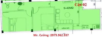 Mặt bằng căn hộ số 2 chung cư mini Nhật Tảo 7