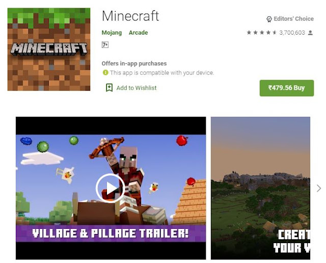 Download Minecraft Pocket Edition for Android and iOS devices