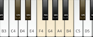 C# or Dflat whole tone scale