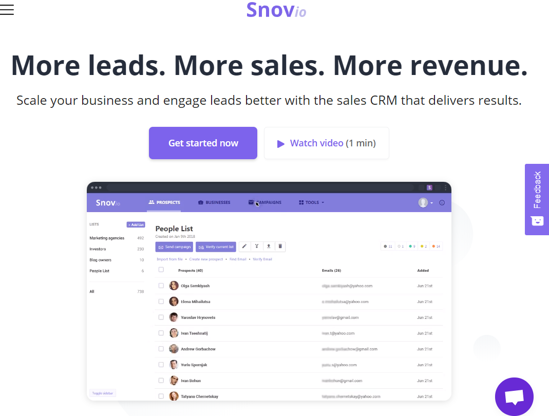 Outreach automation - find, validate and email prospects with Snovio