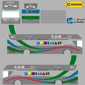 Livery Bussid Budiman Srikandi SHD