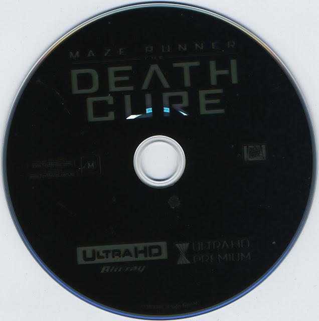 Maze Runner: Death Cure 4K Bluray Label