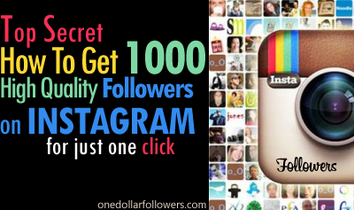 Buy 1000 Instagram Followers For $1