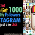Buy 1000 Instagram Followers For $1 [Guaranteed Service]