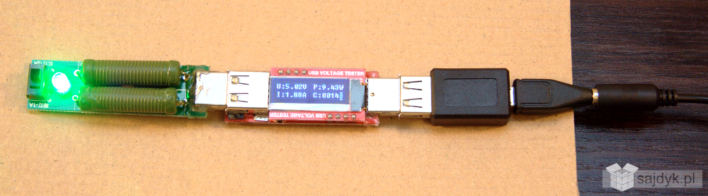 Test kabla od power banku Synology 2200mAh