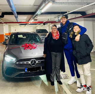 Jusuf Nurkic Posted This Beautiful Picture On Instagram To Congratulating His Mother For Her New Car