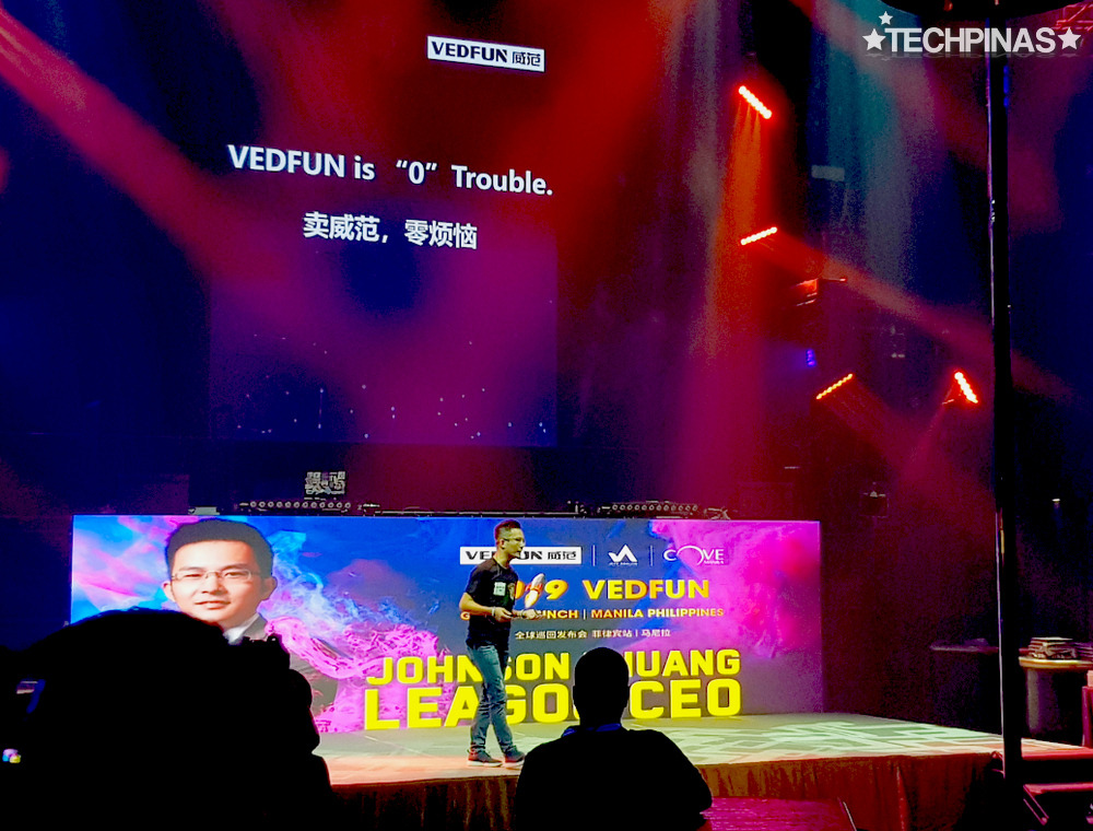 Vedfun Vape E-Cigarette Products, Vedfun Launch Philippines, Leagoo CEO, Johnson Huang