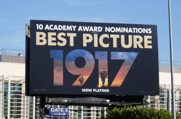 1917 Best Picture Academy Award billboard