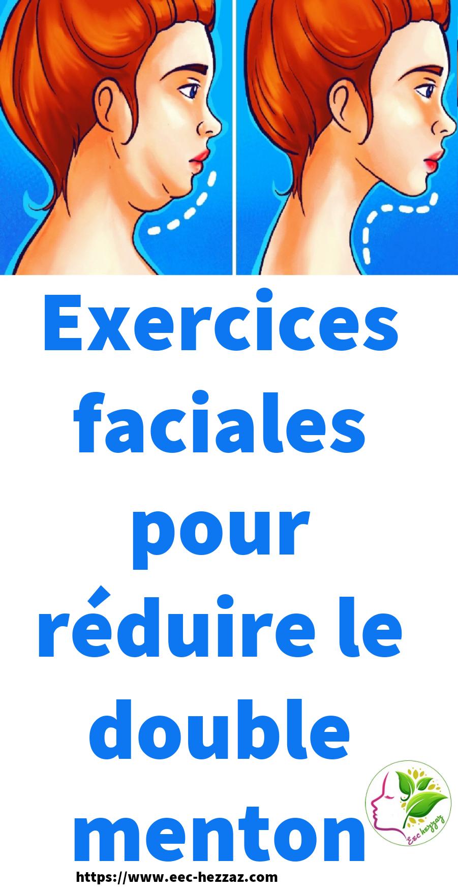 Exercices faciales pour réduire le double menton