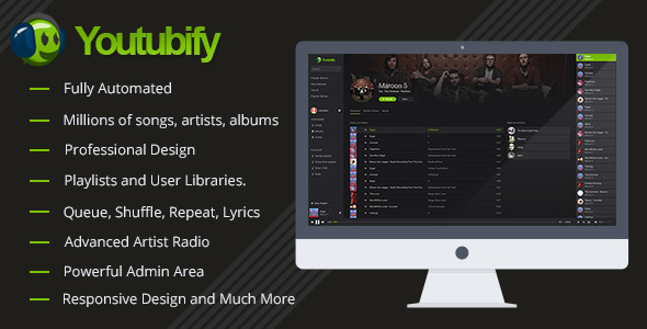 Youtubify v1.8 – Youtube Music Engine