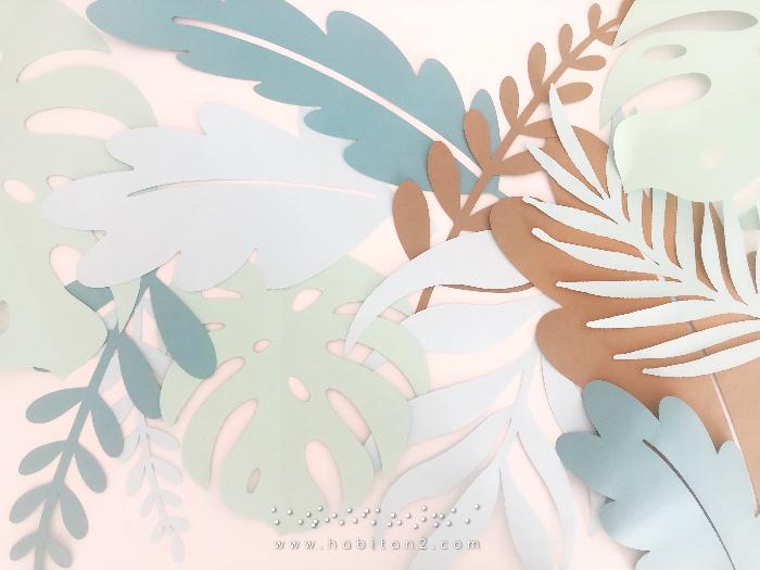 Plantilla imprimible hojas gratis diseño de Habitan2 | Decoración de eventos y papelería