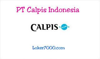Lowongan Kerja PT Calpis Indonesia (CALPICO) Ejip Oktober 2019 Terbaru