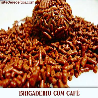 Brigadeiro com café