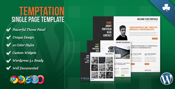 Temptation - Single Page Wordpress Theme Free Download by ThemeForest.