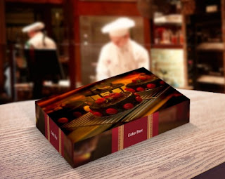 Mockup psd kotak bakery - kanalmu