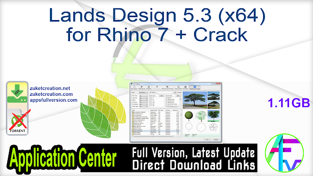 Lands Design 5.3 (x64) for Rhino 7 + Crack