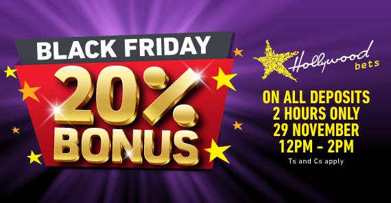 🚨 Black Friday: 20% Deposit Bonus - 12:00-14:00 🚨