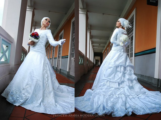 THE BRIDE WEARS HIJAB: Princess Arabia Muslimah Bridal Facebook Group Selections For White
