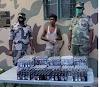 बीएसएफ ने बांग्लादेश सीमा पर 500 बोतल फेंसिडिल के साथ तस्कर को दबोचा