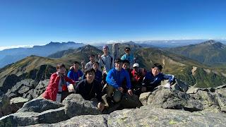 水晶岳南峰