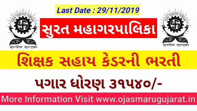 Surat Municipal Corporation Requirements 2019 ( jobs in Surat )