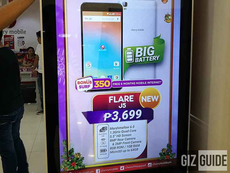 Cherry Mobile Flare J5 Spotted, Packs 5.5 Inch Screen And 4,500 mAh Battery For PHP 3699!