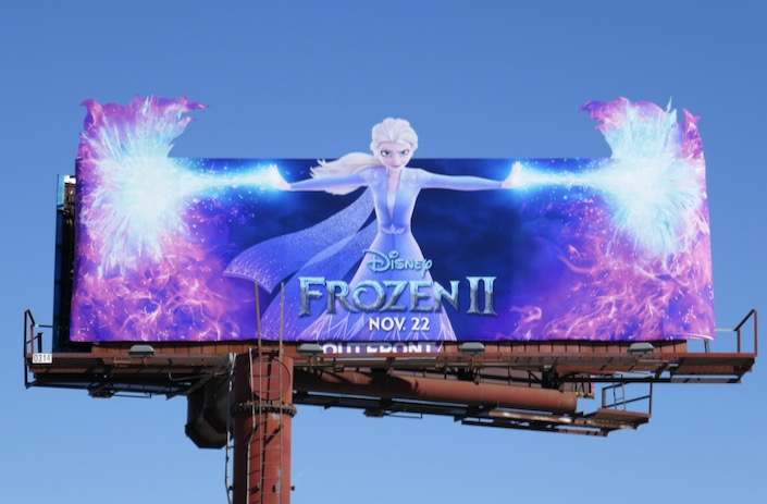Frozen II Elsa extension cut-out billboard