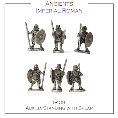 IR-09 Auxilia Standing with Spear - Single Figures - (32 Singles figures + 4 bases)